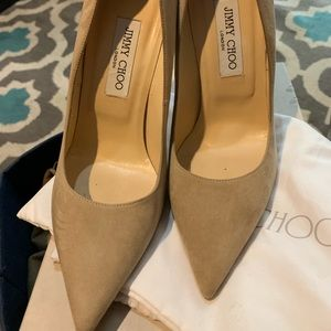 Jimmy Choo Suede heels size 39 but fits 37.5